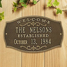 Personalized House Plaque - Welcome Design - 18032D