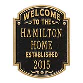 Personalized House Plaque – Family Name - 18034D