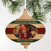 Classic Christmas Photo Ornament Printed On Wood - 18053
