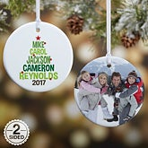 Personalized Family Tree Christmas Ornaments - 18061
