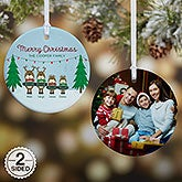 Personalized Reindeer Family Christmas Ornaments - 18063