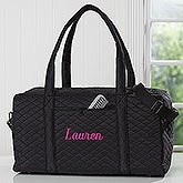 Embroidered Quilted Duffel Bag - 18064