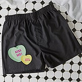 Personalized Boxer Shorts - Conversation Hearts - 18082