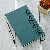 Personalized Journals - Bold Style Teal - 18094