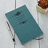 Personalized Journals - Teal Floral Accents - 18096