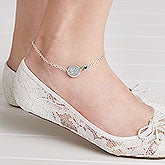 Personalized Ankle Bracelets With Swarovski Birthstones - 18098D