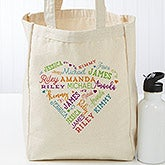 Personalized Canvas Tote Bag - Close To Her Heart - 18103