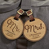 Personalized Bag Tags - Wooden Circle of Love - 18118