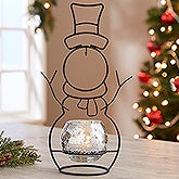 Snowman Candle Holder and Ornament Stand - 18129