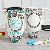 Color Your Own Travel Mug - Just Add Color - 18144