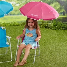 Personalized Kids Beach Chair & Umbrella Set - Pink - 18165