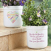 Personalized Flower Pots - Close to Her Heart - 18195