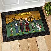 Halloween Family Characters Personalized Doormats - 18207