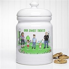 Personalized Cookie Jar - Family Characters  - 18210