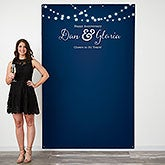 Twinkle Lights Personalized Photo Backdrop - 18218