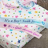 Personalized Ribbon for Baby Shower, New Baby Gift - 18219D