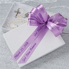 Personalized Ribbon For Favors & Gifts - Holy Day - 18220D