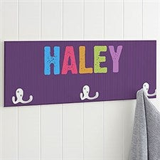 Personalized Coat Rack for Girls - Any Name - 18223