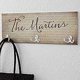 Personalized Coat Rack - Together Forever - 18228