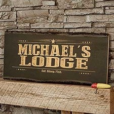 Wood Signs for Him - Personalized Basswood Planks - 18244
