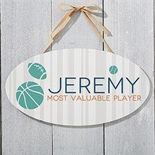 Personalized Oval Wood Signs - Baby Boy - 18253