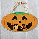 Personalized Halloween Signs - Happy Jack O' Lantern - 18254