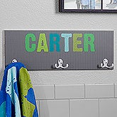 Personalized Towel Rack For Boys - All Mine - 18262
