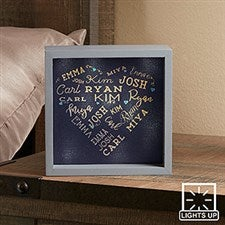Personalized LED Light Shadow Box - Close To Her Heart - 18265