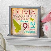 Custom Baby LED Light Shadow Box - Baby Girl - 18266