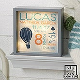 Custom Baby LED Light Shadow Box - Baby Boy - 18267