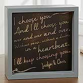 I Choose You Personalized LED Light Shadow Box - 18269