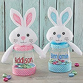 Easter Bunny Personalized Candy Jar - 18273