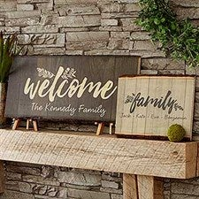 Cozy Home Signs - Personalized Basswood Planks - 18276