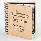 Custom Personalized Wood Photo Album - Reasons Why Collection - 1828