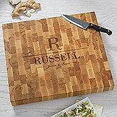 Personalized Butcher Block Cutting Board - Name & Initial - 18336