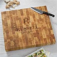 Personalized Butcher Block Cutting Board - Name & Initial - 18336