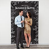 Personalized Wedding Photo Backdrop - Chalkboard - 18338