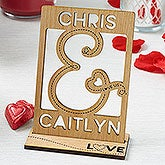Personalized Wood Cutout Keepsake - You & I - 18341