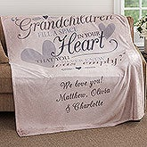 Personalized Fleece Blankets for Grandparents - 18353