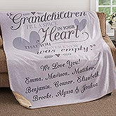 Personalized Premium Sherpa Blankets for Grandparents - 18354