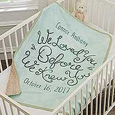 Personalized Baby Sherpa Blanket - I Loved You - 18355