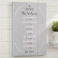 The Story Of Us Personalized Canvas Print - 18359