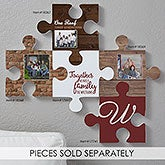 Personalized Photo Puzzle Piece Wall Decor - Stone & Brick - 18368