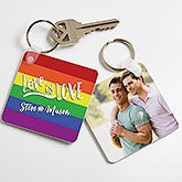 Love Is Love Personalized Key Chain - 18370