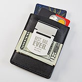 Personalized Money Clip Card Holder For Dad - 18374