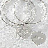 Personalized Pet Charm Bangle Bracelet - 18376