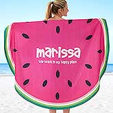 Personalized Round Beach Towel - Fruit Slices - 18379