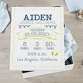 Personalized Baby Keepsake Box - 18390