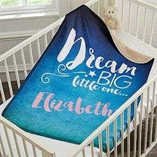 Personalized Sherpa Baby Blanket - Sweet Dreams - 18398