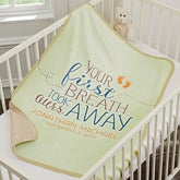 Personalized Sherpa Baby Blanket - Your First Breath - 18404